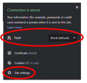 Enable Flash Player on Chrome
