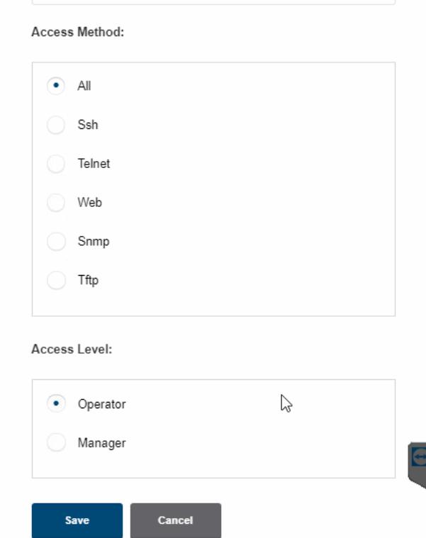 Aruba access improved GUI