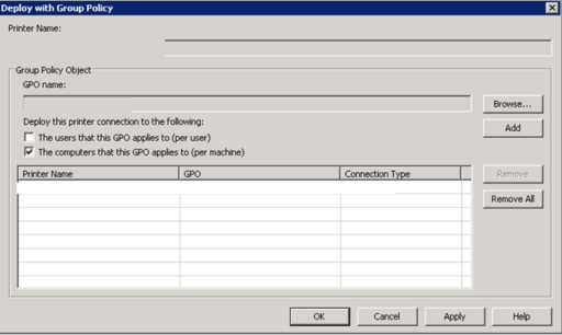 Rolling out printer connections via Group Policy