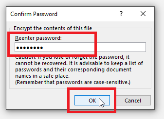 password protect a word document