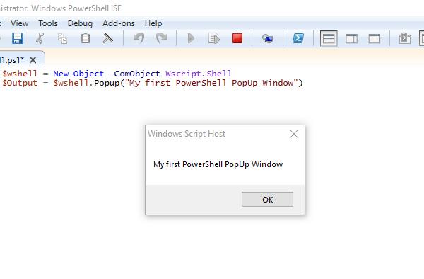 PowerShell PopUp Window