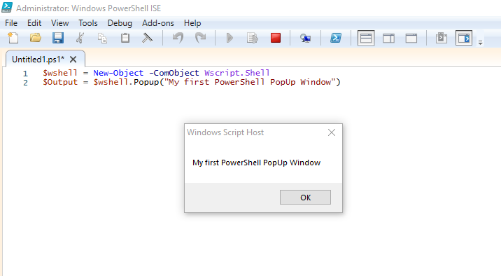 PowerShell PopUp Window