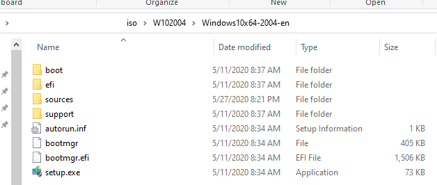 extract windows 10 iso image to folder