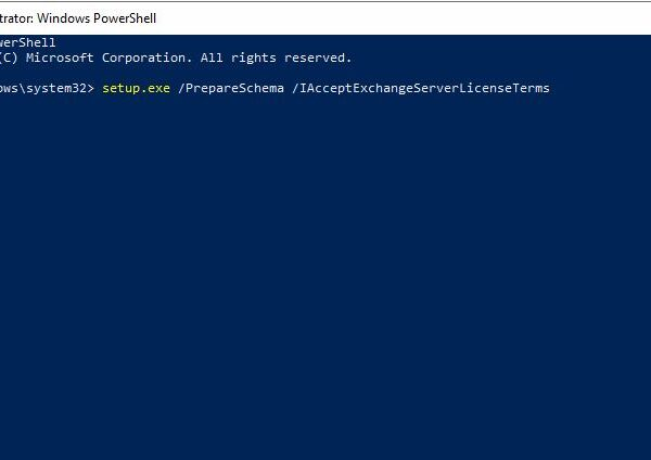 Extend your Active Directory Schema to include Exchange attributes for Office 365