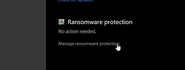 protect my files from Ransomware