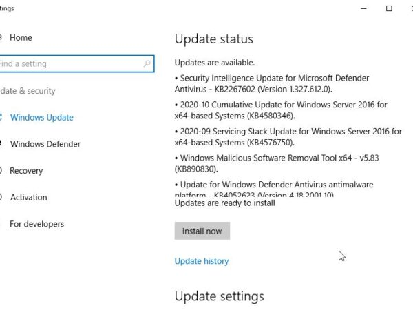Windows Server and installing selective Windows Updates